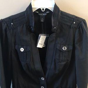WHBM black 3/4 sleeve jacket Size 6 NWT
